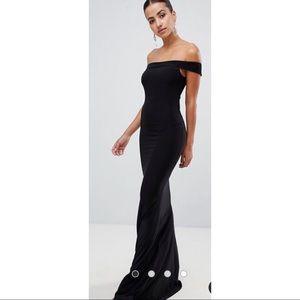ASOS long black fishtail dress